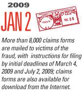 Timeline Image: Trustee Mails 8000 Claims - 2009-01-02