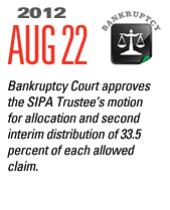 Timeline Image: Bankruptcy Court approves SIPA Trustee's motion for allocation - 2012-08-22