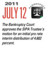 Timeline Image: Bankruptcy Court approves $2.6 Billion - 2011-07-12