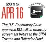 Timeline Image: US Bankruptcy Court Approves $93MM - 2015-04-16